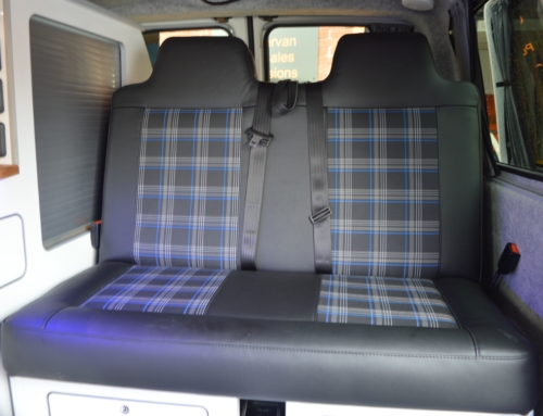 Our latest GTI fabric RnR bed & front seats.